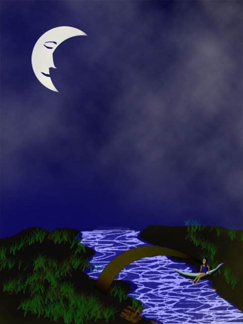 歌曲:弯弯的月亮